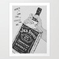 jack daniels Art Prints featuring Jack Daniel's by AshleyRose