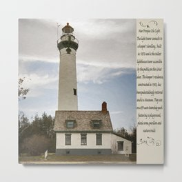 Presque Isle Lighthouse New Painterly Metal Print