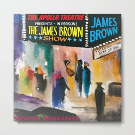 The Apollo Theater of Harlem Present James Brown Live Portrait Metal Print