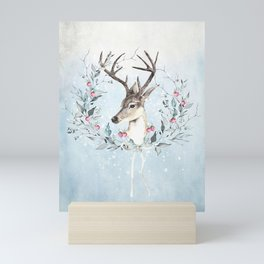 Winter deer Mini Art Print