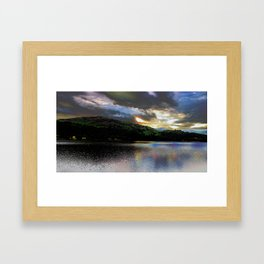Grasmere Lake District Sunset Framed Art Print