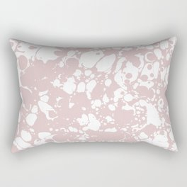 Blush Pink White Spilled Paint Mess Rectangular Pillow