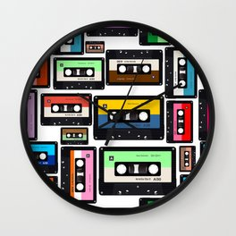 Cassette Vinyl Record  Wall Clock