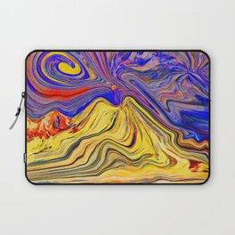 Vesuvio che brucia Laptop Sleeve