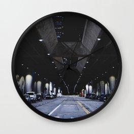 night city city lights underground parking asphalt los angeles united states Wall Clock