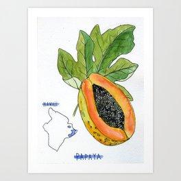 Papaya - Hawaii Art Print