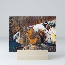 Tree top scoundrel Mini Art Print