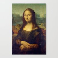 mona lisa Canvas Prints featuring Mona Lisa by Leonardo da Vinci by Palazzo Art Gallery