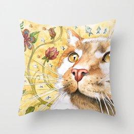 The Immortal Furball Throw Pillow