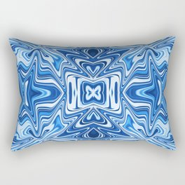 65 - Psychedelic Blues Rectangular Pillow