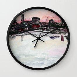 Ocean View Sunset Wall Clock