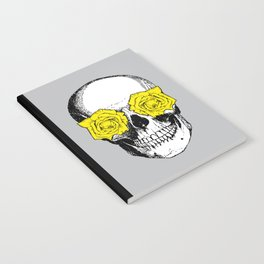 Skull and Roses | Grey and Yellow Notebook