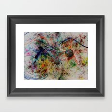 painting marbles Framed Art Print