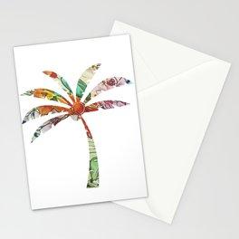 Palm Tree Fabric Stationery Cards