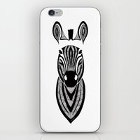 zebra iPhone & iPod Skins featuring Zebra by Art & Be