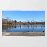 trout Area & Throw Rugs featuring Trout Lake by RMK Photography
