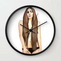 artpop Wall Clocks featuring ARTPOP by Alfonso Aranda