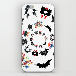 Rorschach test subjects' perceptions of inkblots psychology   thinking Exner score iPhone Skin