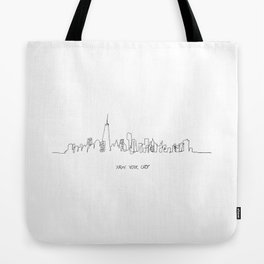 New York City Skyline Drawing Tote Bag