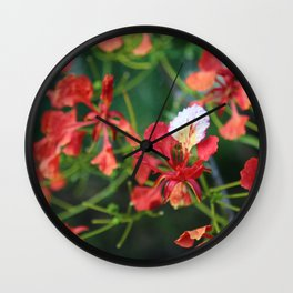 """""""Poinciana turns over a new leaf"""" Wall Clock"""