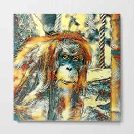 AnimalArt_OrangUtan_20180201_by_JAMColors Metal Print