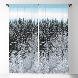 Winter Wanderlust Woods - Snow Capped Forest Nature Photography Blackout Curtain