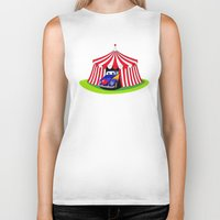 clown Biker Tanks featuring Clown by Maestral