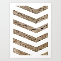 tree rings Art Prints featuring Tree Rings by Tyler