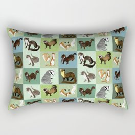 Best Nine  Mustelids from Spain Rectangular Pillow