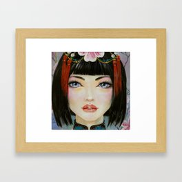 China Girl with Eyes of Blue Framed Art Print