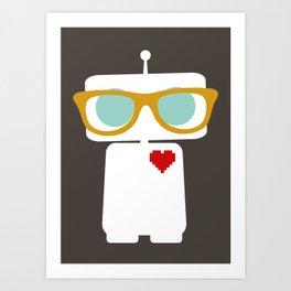 Quirky Robots Art Print