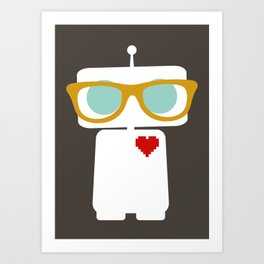 Quirky Robots Art Print