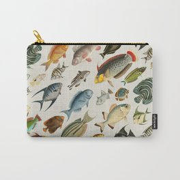 vintage fish swim on bone Carry-All Pouch