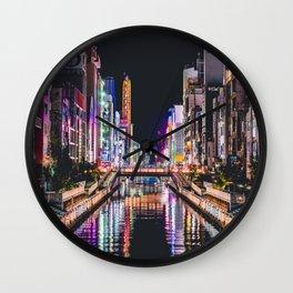 Tokyo Nightlife Wall Clock