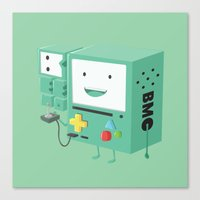 beemo Canvas Prints featuring Adventure Time - Beemo ( in - style ) by Seez