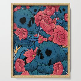 Skulls and Flowers Serving Tray