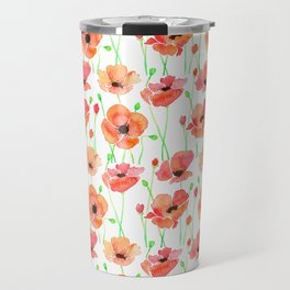 Poppies Flowers Travel Mug