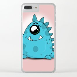 Blue Monster Clear iPhone Case