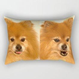 Angry Pomeranian dog Rectangular Pillow
