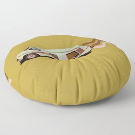 Keepin' it Movin' Floor Pillow