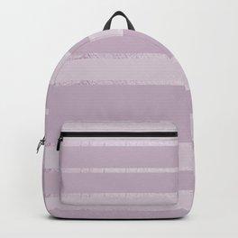 Blush lavender modern geometric gradient stripes Backpack
