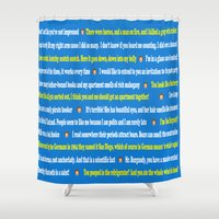anchorman Shower Curtains featuring Anchorman Quotes by Dr. Spaceman40