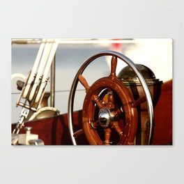Staying on course at sea Canvas Print