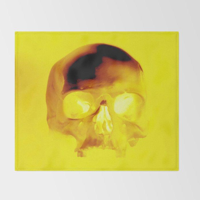 Yellow Skull Throw Blanket