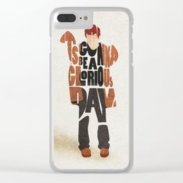 Typography Art of Musical Genius Thom Yorke Clear iPhone Case