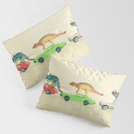 Dinosaurs Ride Cars Pillow Sham