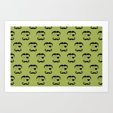 Olde Timey Mustache and Eyepatch Man Art Print