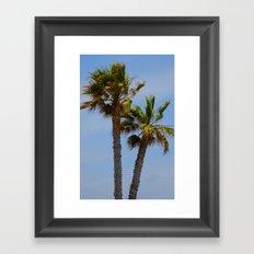 Tropical Palm Trees Framed Art Print