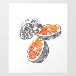 Moon Orange Art Print