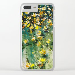 field of wildflowers Clear iPhone Case